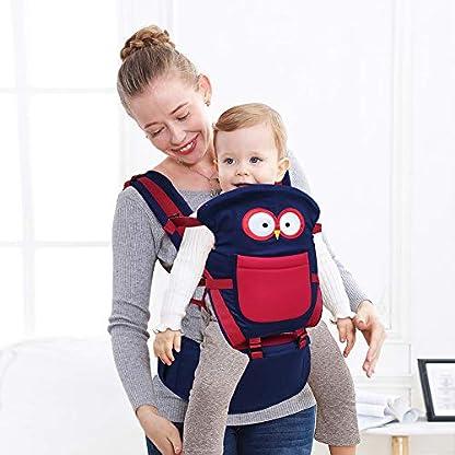 51p7jUoKOfL. SS416  - Happy Cherry - Portabebés Ergonómicas con Asiento de Cadera Cintura Ajustable para Bebés Recien Nacido 0-36 Meses Multifuncional