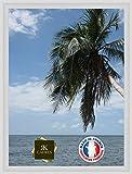 Caisse américaine pour Une Toile Format Figure 15 54x65 / 65 x 54 Cadre Caisse Americaine Blanc, 4 cm de Largeur, Cadre en Bois