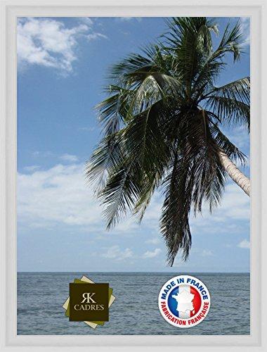 Caisse américaine pour Une Toile 50x70 / 70 x 50 Cadre Caisse Americaine Blanc, 4 cm de Largeur, Cadre en Bois