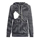 Beikoard Damen Schwangeres Kapuzepullover Damen Stillende Still Hoodie Sweatshirts für die Mutterschaft mit Langen Ärmeln Freizeit Kleidung Pullover