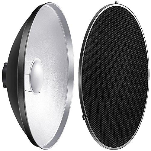 Neewer Fotostudio Strobe Blitzlicht Reflektor Beauty Dish mit Wabengitter und Weichzeichner, 55 Zentimeter für Bowens Gemini Standard, R, RX Strobe und mehr