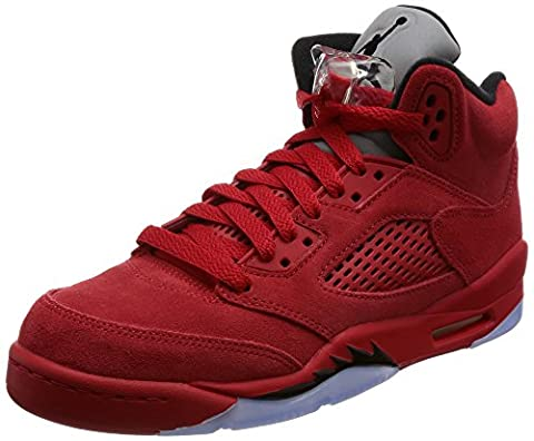 AIR JORDAN 5 RETRO BG (GS) 'RED SUEDE' - 440888-602 - SIZE 6 - US Size