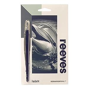 Reeves - Creatividad - Tarjeta de Raspar - Mini, plata - Delfín
