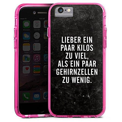 Apple iPhone 6s Plus Bumper Hülle Bumper Case Glitzer Hülle Gewicht Humor Phrases Bumper Case transparent pink
