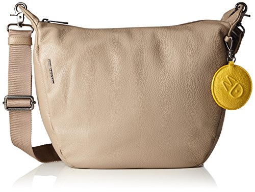 Mandarina Duck Damen Mellow Leather Tracolla Schultertasche, Beige (Simply Taupe), 10x21x28.5 cm
