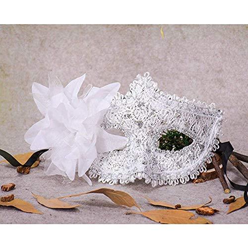 NaiCasy Handspitzeschablone Mode ArtRhinestone Maskerademaske venezianische Maske
