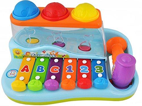 ISO TRADE Xilofono Musicale colorato con Martello - Tastiera Piccola per Bambini con Palline #1386