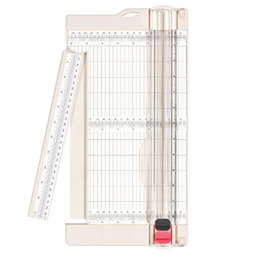 Vaessen Creative 2207-108 Papierschneider / Rollenschneider, Schneide und Falzklinge, Schneidemaschine A3, A4, Plastik, weiß, 30.5 x 15.2 x 2 cm -