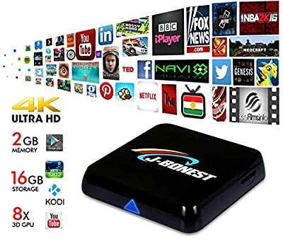 J-Bonest® Quad Core Android 4.4.2 Smart HTPC 4K 1080P TV BOX Mini PC Streaming Media Player S812 M8Swith KODI(XBMC) 15.2 Streamer 2GB/16GB Fully Loaded Home Entertainment Support Hardware Decoding