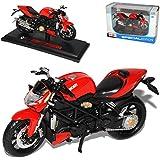Ducati Streetfighter S 2010 Rot Mit Sockel 1/18 Maisto Modellmotorrad Modell Motorrad