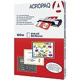 ACROPAQ pochettes de plastification A3 - 80 microns - Transparant - Pack de 50