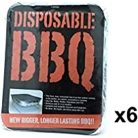 BBQ 6 x Instant Light Disposable Barbecue - Outdoor Charcoal Grill