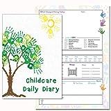 Puériculture Agenda journalier, les liens Eyfs, Daily Journal Agenda d'enregistrement, chambre d'enfant, enfant, Early Years Care, (11) avec housse en PVC