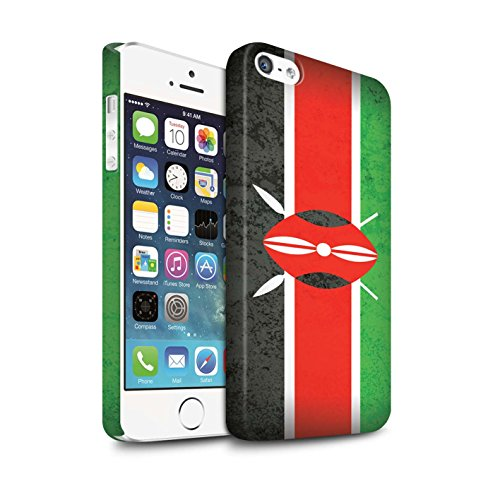 STUFF4 Matte Snap-On Hülle / Case für Apple iPhone 7 / Ägypten/Ägypter Muster / Afrika Flagge Kollektion Kenia/Kenyan