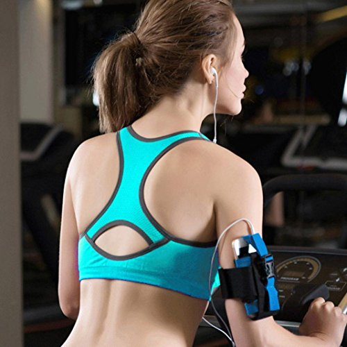 Sous-vêtements de sport, Ineternet Femmes Sexy Nylon + Spandex Haut Gilet Athlétique Gym Fitness Bra Confort Yoga Stretch Intimates Bleu