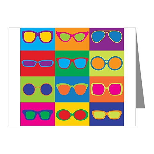 CafePress-Sonnenbrille Schachbrett Note Karten-Note Karten (PK 20Stück) glänzend