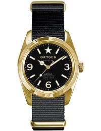 Oxygen EX-S-LIN-38-BL EX-S-LIN-38 - Reloj analógico de cuarzo unisex, correa de tela color negro (agujas luminiscentes)