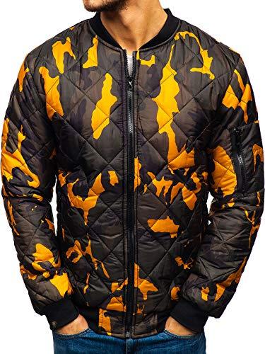 BOLF Herren Bomberjacke Übergangsjacke Steppjacke Camouflage Army Motiv Street Style J.Style MY20 Mehrfarbig M [4D4]