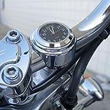 gugutogo Wasserdichte Motorrad Motorrad Lenker Halterung runden Zifferblatt Uhr Zubehör