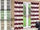 Vorhang LISA 140x250cm, Gardine, Ösenschal, Fensterdekoration (braun/grün)