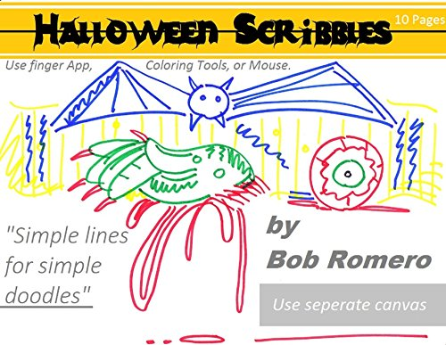 Halloween Scribbles: Simple lines for simple doodles (English Edition)