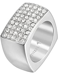 Joop! Damen-Ring JP-ELLA Edelstahl Zirkonia weiß Gr. 60 (19.1) - JPRG10627A190
