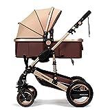 YBL confortable ombrelle poussette canne bébé confort Quatre Roue poupée pour enfants inclinable pliage Haut champ de...