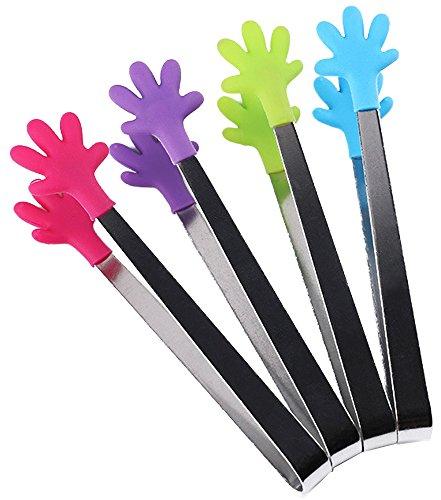 Acciaio inossidabile alimentare clip antiscivolo resistente al calore utensile da cucina kitchen tong per la presa alimentari