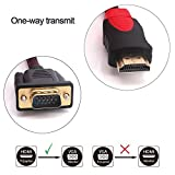 HDMI to VGA Cable, Yilan 5ft/1.5m Nylon Fiber Braided 1080P HDMI Male to VGA Male Video Audio Converter Adapter Cable Gold Plated for HDTV DVD and HDMI-Equipped Devices