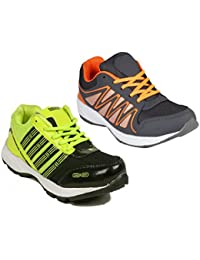 Redon Men's Pack Of 2 Sports Running Shoes (Running Shoes, Jogging Shoes, Gym Shoes, Walking Shoes) - B074HHXXK5