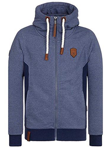 Naketano Male Zipped Jacket Birol IX bluegrey melange