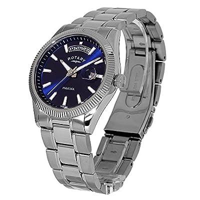 DREBH GB02660/05 - Reloj de Cuarzo para Hombre, con Correa de Acero Inoxidable, Color Plateado de DREBH
