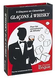 La Chaise Longue 32-K2-061 Glaçons à Whisky en céramique blanche réutilisables