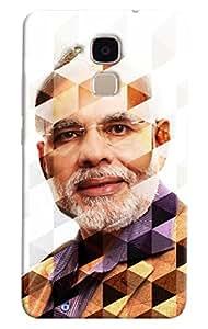 Omnam Indian Primeminister Shri Narendra Singh Modi In Prism Effect Printed Designer Back Cover Case For Huawei Honor V8