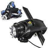 CREE XM-L T6 LED 1800Lum Bike Bicycle Headlight Headlamp Plus Holder