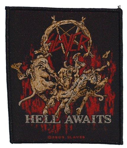 Slayer logo Awaits chiaro Patch Tessuto 8x 10cm