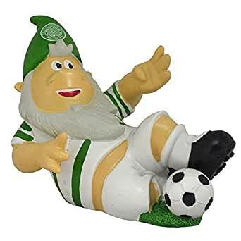 Celtic FC Official Resin Football Sliding Tackle Garden Gnome (13cm x 11.5cm x 19cm) (White/Green)