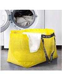 Ikea SLUKIS - Bolsa de Transporte Grande de 71 litros, Color Amarillo