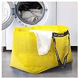 Ikea SLUKIS Große Tragetasche Gelb 71 Liter