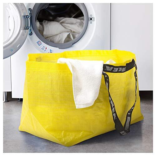 (Ikea SLUKIS Große Tragetasche Gelb 71 Liter)