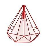 perfk Cubierta de Luz Jaula de Bombilla Techo De Diamante Geométrico Lámparas de Sombra Techo Colgante - Dentro Rojo Jaula Blanco
