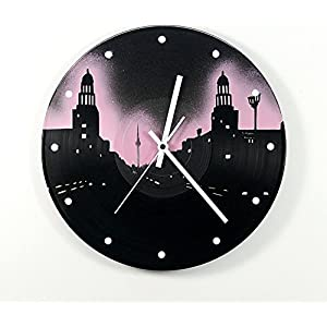 Uhr Wanduhr Berlin Frankfurter Tor Vinyluhr Schallplattenuhr