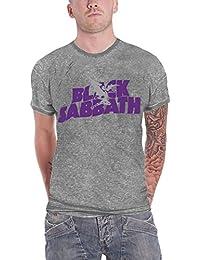 Black Sabbath T Shirt band Logo & Demon Official Unisex Burn out Fashion