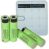 Panasonic NCR18650B_4B 18650 Li-Ion inkl. AccuPower Aufbewahrungsbox (4 Stk. Akkus, 3400mAh)