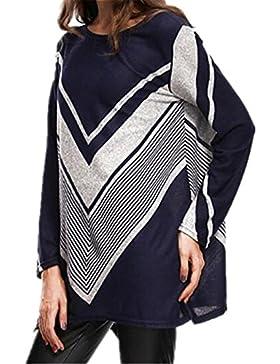 Kerlana T-Shirt Donna Camicia Elegante Manica Lunga Camicetta Rotondo Collo Camicie Rilassato Maglietta Moda Blusa...