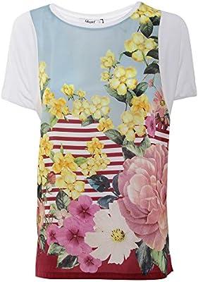 Blugirl Mujer 354600107 Blanco Seda T-Shirt