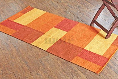3 Handgefertigte Wolle Teppiche (Manchester der East rugkl-2103–070140handgeflochtenem & handgefertigt 2'10,2cm X 4' 20,3cm Multicolor Block Muster Bereich Teppich, Stil: 2103)