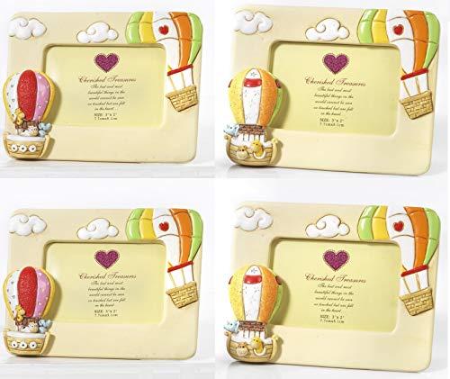 Subito disponibile 4 pezzi cornice portafoto resina mongolfiera arca con animali bomboniera
