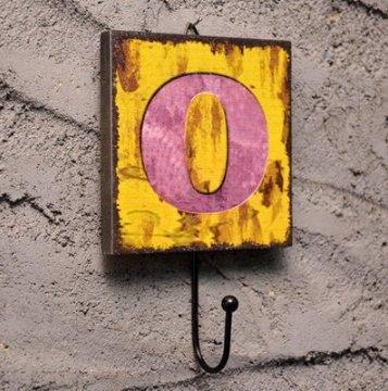 Crochet Mural Vintage Design Decoratif Porte Clés Original O Alphabet Lettre