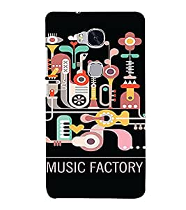 PrintVisa Cute Music Design 3D Hard Polycarbonate Designer Back Case Cover for Huawei Honor 5X